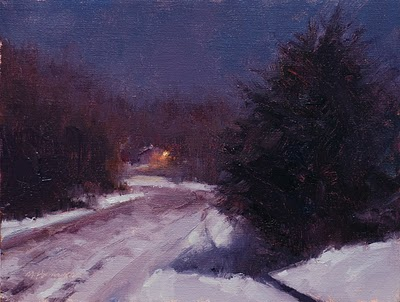 &quot;January Moonlight,&quot; by Marc Hanson (painted last night, too!)