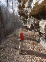Admiring old rock