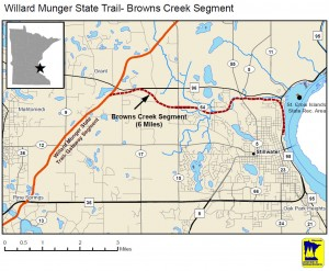 Map of new Brown's Creek Trail acquisition