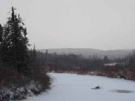 Big snowy country upriver