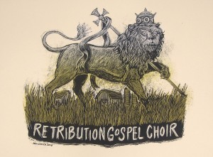 Retribution Gospel Choir lion poster