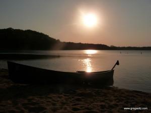 Sunset canoe beach