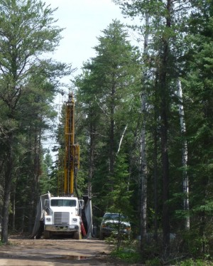 A sulfide mining drill site near the BWCAW