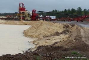 Frac sand mine near Grantsburg