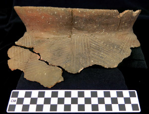 Oneota pottery from the Sheffield Site (courtesy Science Museum of Minnesota)